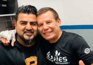 El Mimoso y Julio César Chávez. Foto: Cortesía